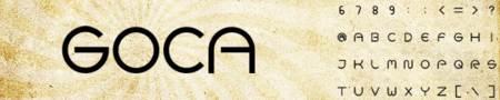 fuente tipografica Goca