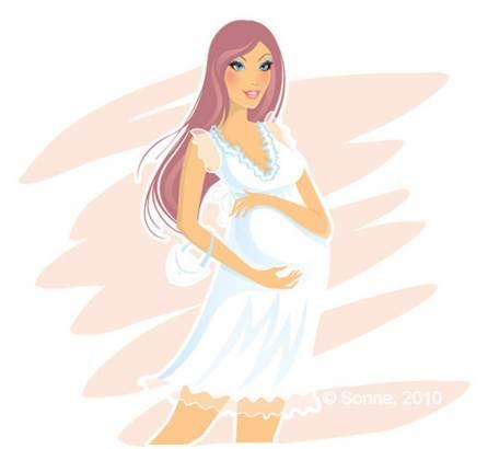 Vector de una mujer embarazada gratis | portafolio blog