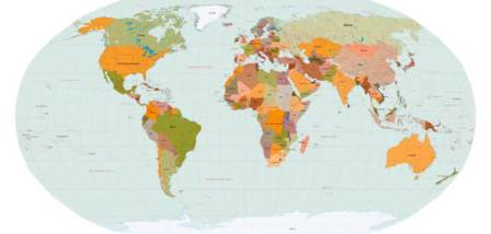 mapa vectorizado del mundo
