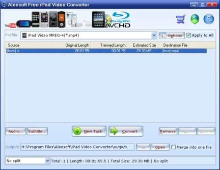 Convertidor de videos para ipad
