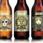 Botellas de vidrio para cerveza con un diseño tribal