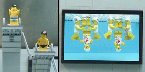 Legos en el centro acuatico