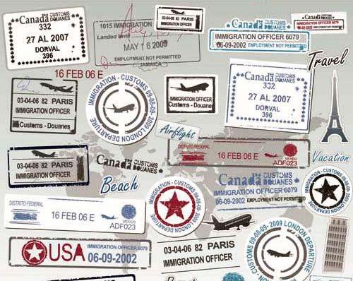 Plantillas de vectores vintage: sellos postales.