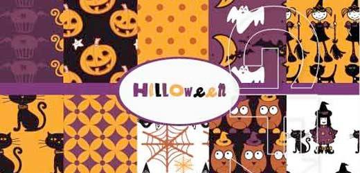 Vectores con estilo de calabazas de Halloween para diseños sofisticados