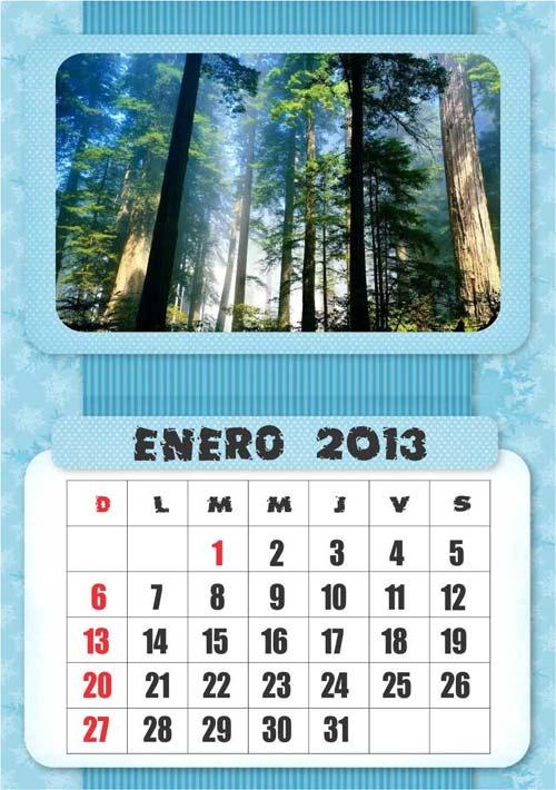 Calendarios Vectorizados 2013