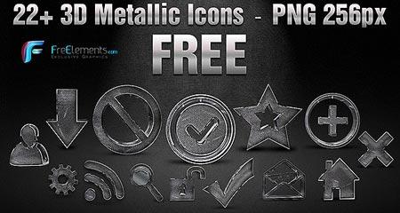 3d_metallic_chrome_icons_set_png_fe