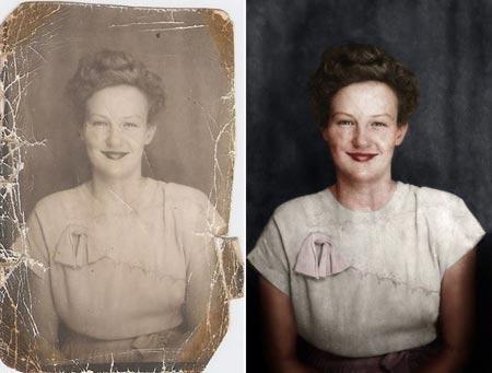 Restaurando fotografía en blanco y negro