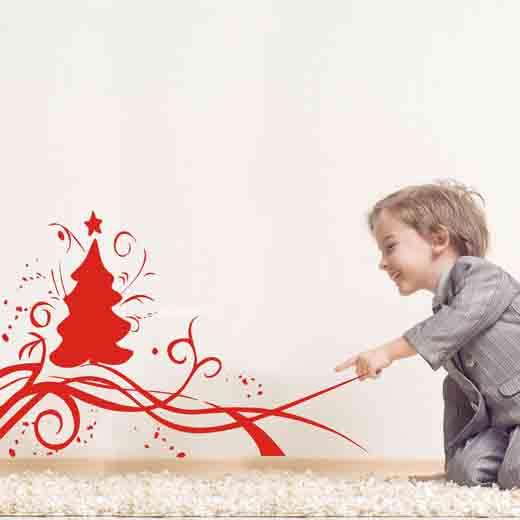 Como decorar paredes en Navidad