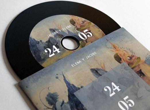 Invitación de boda tipo LP Musical, bastante creativo y bien diseñado