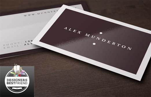 Tarjeta de Presentación con estilo minimalista con color café