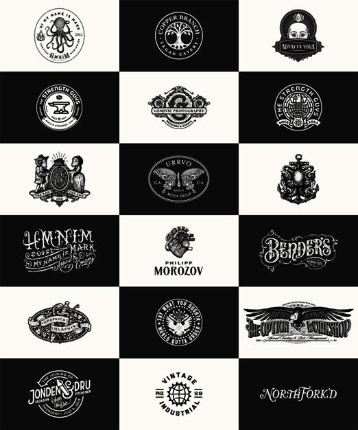 Paquete de logos vintage en vectores volumen ll