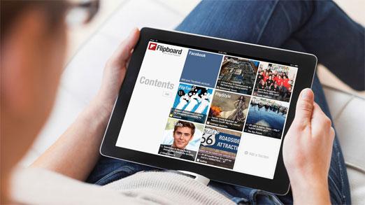 Flipboard esta aplicacion te permite elaborar revistas en linea