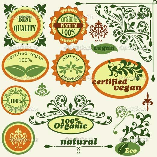 Set Art Nouveau en vectores, ideal para diseñadores gráficos