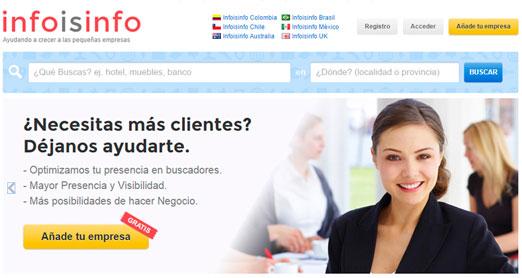 infoisinfo es un buscador que ayuda a la PYME