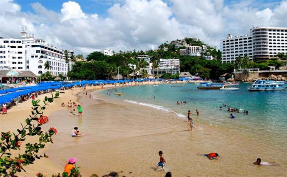 Playas de Acapulco, un espectáculo interesante